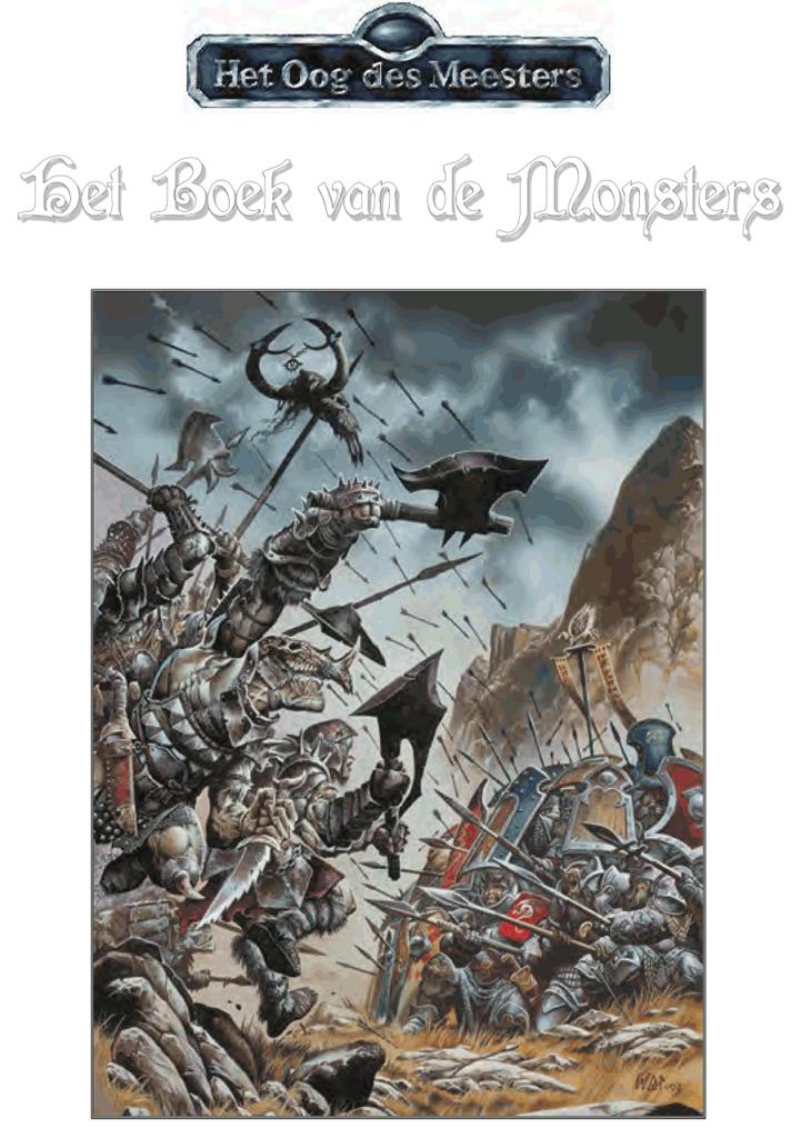 kaft boek van de monsters