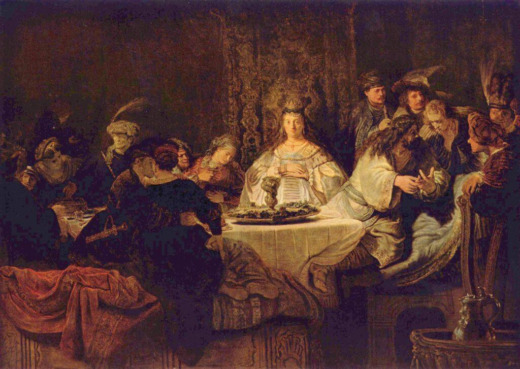 Schilderij: De bruiloft van Simson